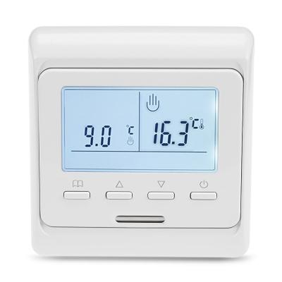 termostat o per riscaldamento a pavimento elettrico dopo lettura sonda pavimento e temperatura ambiente
