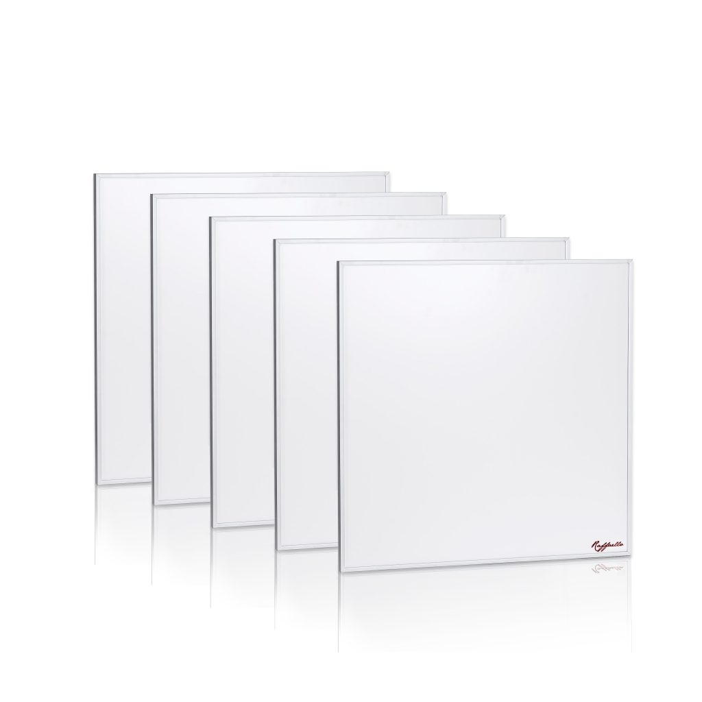 5 pannelli radianti infrarossi 400watt raffaello 60x60 for Pannelli radianti infrarossi portatili