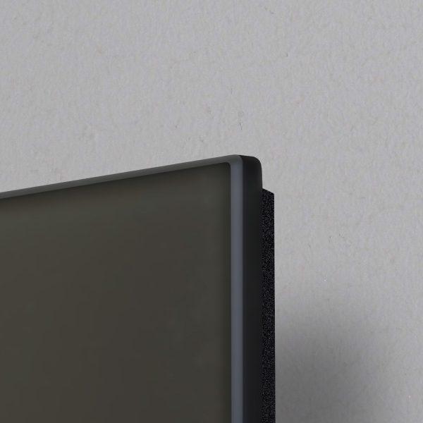 pannello radiante Infrarossi Raffaello dettaglio vetro nero