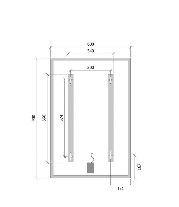 quote misure pannelli Infrarossi Raffaello quadro Standard 60x90