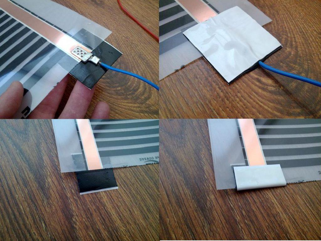 collegamenti elettrici pellicola riscaldante infrarossi ptc automodulante