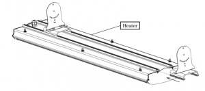 staffe fissaggio riscaldatore AP infrarosso onda lunga riscaldatore elettrico radiante infrarossi