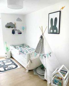 camera dei bambini riscaldata con i pannelli a infrarossi quadro