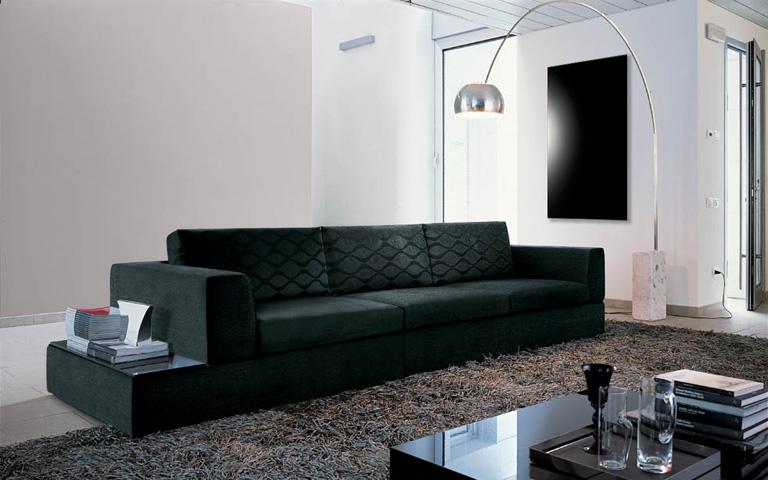 pannelli infrarossi salotto vetro nero