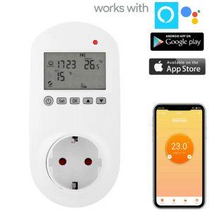 termostato wifi presa muro per pannelli infrarossi